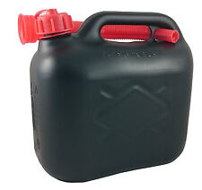 5 LITRE PLASTIC FUEL CAN PETROL DIESEL OIL  5L JERRY CAN FLEXIBLE SPOUT BLACK