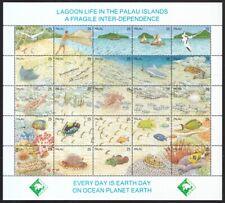Palau-Inseln 1990 postfrisch MiNr. 370-394 Zd-Bogen  Leben in der Lagune