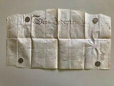 1817 SCARCE Vellum Indenture Doc Philadelphia Orphans Court Seal & Security Cut