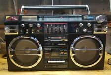 Vintage Lasonic TRC-931 Radio Headphone  Dual Cassette Ghetto Blaster Boombox