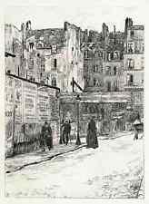 John Jack vrieslander-Paris-La rue du Cimetiére Saint Benoist Lithographie