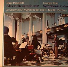"""CLASSIQUE SYMPHONIE - PROKOFIEFF, BIZET - NEVILLE MARRINER 12"""" LP (L83)"""