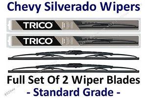1999-2007 Chevy Chevrolet Silverado Wiper Blades Set Of 2 - 30221x2