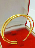 EXCELLENT! 22K THAI BAHT SOLID GOLD HOOP EARRINGS SIZE 20 MM.!