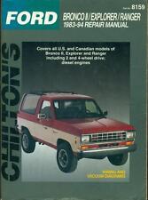 1983 1984 1985 - 1992 1993 1994 FORD RANGER EXPLORER BRONCO II REPAIR MANUAL