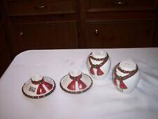 FITZ AND FLOYD OMNIBUS OCI salt pepper shackers, candle sticks set CHRISTMAS