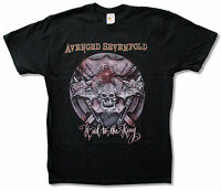 Avenged Sevenfold Hail To The King Black T Shirt New Official Adult A7X