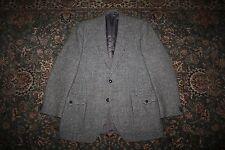 Alexandre Gray Wool Harris Tweed Two Button Sport Coat Blazer 42 44 R