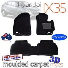 To suit Hyundai IX35 Black Carpet 3D Floor Mats 2010 - 2015