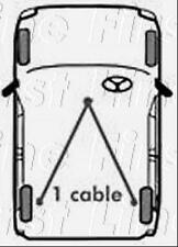 FKB2053 FIRST LINE BRAKE CABLE COMPLETE fits Kia Pride (5dr) 91-00