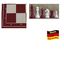 """Schachset """"Profi"""" mit Schachbrett und Schachfiguren KH 94 mm, weiss-rot"""