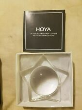 Hoya Crystal Paperweight.Star Magnifier