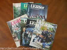 vintage magazine Girl Scout Leader lot of 7   4 1986    3 1987