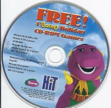 4 Barney Holiday Games (Pc game Cd, vintage software kids fun play learning)