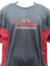 NCAA Dri-Fit Arkansas Razorbacks Football T-Shirt Men's sz XL 100% polyester