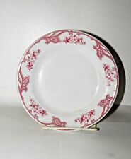 Vtg SHENANGO CHINA Restaurant Ware Plate Red Flowers Bread & Butter Side Dish 7""