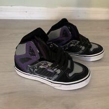 NEW VANS Ellis Mid Shoes Black Purple Grey Young Boys Size 11