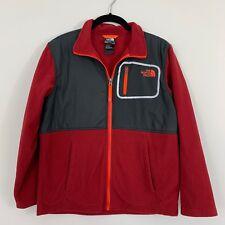 The North Face Fleece Jacket Boys Youth Size Large Red Orange Black