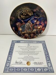"Royal Doulton Summoning Of The Dragon Myles Pinkney 8"" Limited Edition Plate COA"
