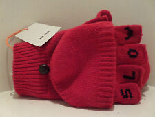 JACK SPADE authentic SLOW CLAP RED Pyru0546 Mitten Gloves w/flap NEW Ret$155