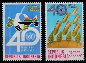 Indonesia postfris 1985 MNH 1185-1186 - VN 40 Jaar