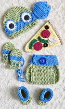 Newborn TMNT Inspired Ninja Turtles Leonardo (BLUE) Crochet Baby 6 Piece Set