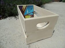 """Hand Built 45rpm 7"""" inch Record Vinyl Crate Storage Solid Wood - Unfinished Pine"""