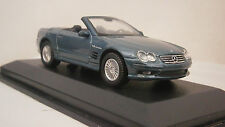 MERCEDES BENZ SL55 V8 CONVERTABLE SPORTS BLUE COUPE EVOLUTION MODEL CAR 1:43 BOX