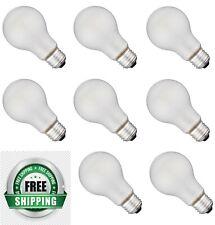 Incandescent Light Bulbs 100 Watt 950 Lumens Heavy Duty Frosted - 8 Bulbs