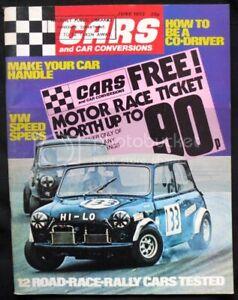 CARS & CAR CONVERSIONS Magazine June 1973 V8 SUNBEAM Ford Cortina AUSTIN ALLEGRO