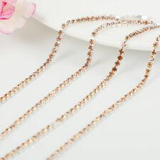 1M 2/2.5/3mm Rhinestone Crystal Trim Jewelry Craft Close Cup Chains String Trim