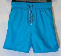 Boys George Plain Sea Blue Mesh Lined Swim Swimming Shorts Age 8-9 Years