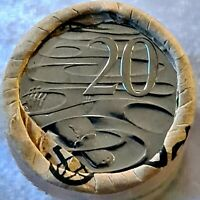 2021 20 Twenty Cent Coin Roll x 1 - JC Security Jody Clark Effigy Unc. Tail/Tail