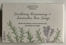 NEW Grove Rosemary & Lavender Bar Soap With Organic Coconut & Olive Oils 4 Oz