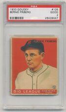 1933 Goudey Gum #105 Bernie Friberg PSA 2 GOOD Boston Red Sox SET BREAK