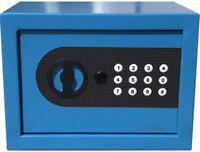 NEW DIGITAL ELECTRONIC SAFE SECURITY BOX WALL JEWELRY GUN CASH BLUE