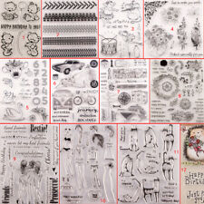 Girl Transparent Silicone Clear Stamps DIY Scrapbook Embossing Card Art Flower