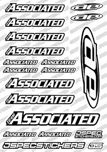 ASSOCIATED RC TEAM STICKER SHEET RK EDITION DECAL RC BUGGY RC10 AE CUSTOM WHITE