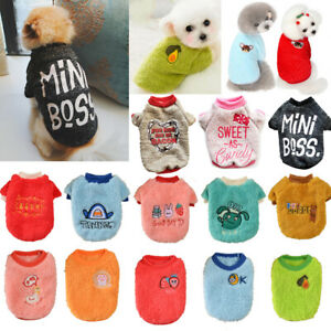 Pet Soft Fleece Dog Jumpsuit Winter Dog Clothes Small Puppy Pet Outfits Sweater