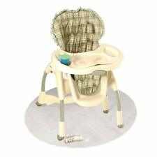 50 Inch Baby High Chair Infant Toddler Feeding Floor Protector Floor Mat Clear.