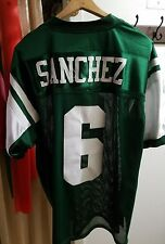 Reebok 100% Polyester Green/White Mark Sanchez # 6 Jets Jersey Sz 50