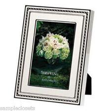 Vera Wang Wedgwood With Love Blanc Silver 4 x 6 Enamel Frame. New.