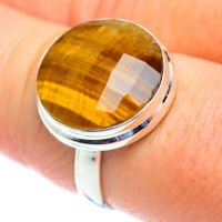 Tiger Eye 925 Sterling Silver Ring Size 7.75 Ana Co Jewelry R53932