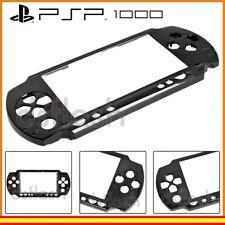 Carcasa Frontal PSP 1000 / Fat Negro Faceplate Repuesto Placa Negra Sony Cristal