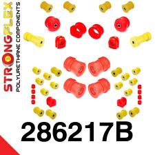 Nissan Skyline R33, 34 & GT-R  PU-Lager Buchsen Satz VA+HA StrongFlex 80ShA rot