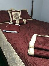 Home Reflections Gwyneth 8-piece Full Comforter Set Burgundy/Quilted Nice