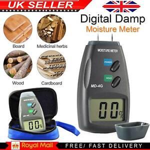 Digital Moisture Meter 4 Pin PRO Damp Detector Timber Wood Tester Plaster Sensor