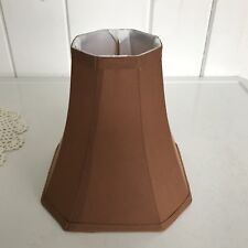 "Fabric Bell Shaped Lampshade Brown 7 1/2"" Tall x 7 1/2"" Wide w Slip Bulb Fitter"