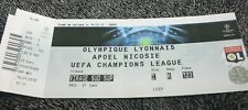 TICKET )) OL LYON V HAPOEL NICOSIE )) Champions League 2011/2012