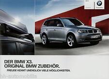 BMW x3 accessorio PROSPEKT 2/11 2011 auto prospetto brochure opuscolo Accessories